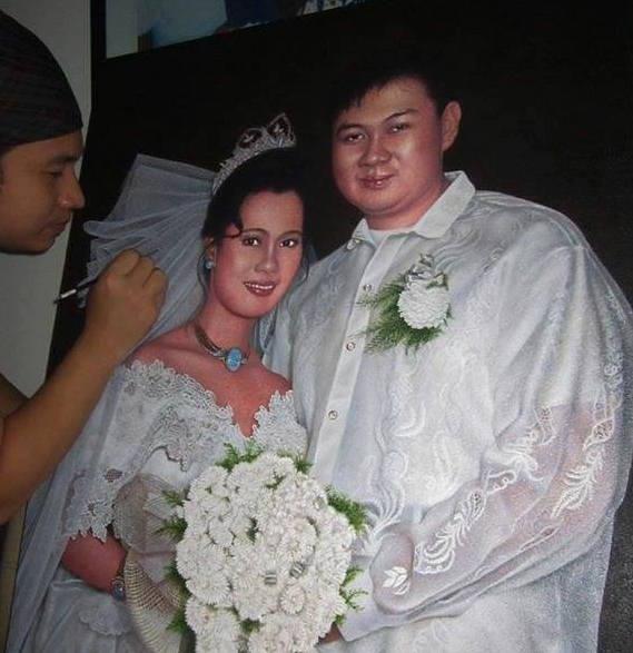 Wedding portrait in acrylic
